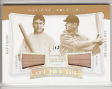 2017 NATIONAL TREASURES ALL DECADE GAME USED BATS NAP LAJOIE & SAM CRAWFORD 1/3