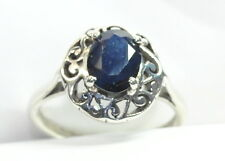 2.60 CT NATURAL BLUE NILAM SAPPHIRE LOOSE 92.5 SILVER DESIGNER SIZABLE ASTRORING