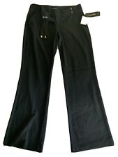 Womens Black MyMichelle Flat Front Dress Pants Size 7