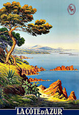 Art Ad La Cote D'Azur Travel  Deco  Poster Print