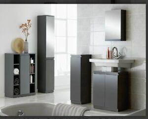 Las Mejores Ofertas En Gabinetes De, Argos Home Gloss Bathroom Floor Cabinet White
