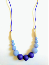 Silicone/  Wooden Beads NecklaceTeething Necklace