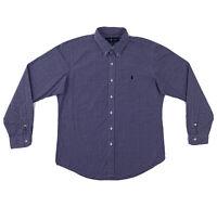 Polo Ralph Lauren Purple Dress Shirt Men's Large Custom Fit Long Sleeve Button