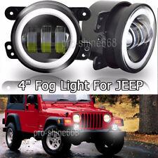 """2pcs 4"""" 30W CREE LED Fog Lights 6000K White Lamp For 2007-2017 Jeep Wrangler JK"""