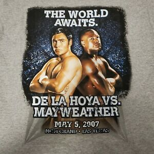 Oscar De la Hoya vs Mayweather T Shirt M 2007 MGM Las Vegas Boxing