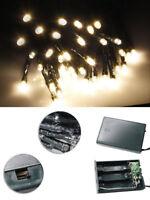 ds Serie Luci di Natale batteria 20 LED Luce Bianco Caldo Decorazione Albero dfh