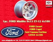 1 Cerchio FORD LOTUS TALBOT Minilite 9x13 ET-12 4x108 Wheel Felge Llanta Jante