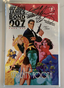 James Bond: Serpent's Tooth Comic Book Signed Auto by Gulacy And Moench