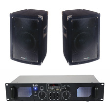 Ibiza Sound & QTX 700W Bedroom DJ Speaker House Party Sound System