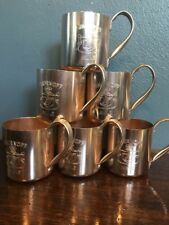 6 Vintage Smirnoff Moscow Mule Cups. Copper
