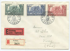 Liechtenstein FDC Eil R Brief Vaduz Vevey Schweiz 1939