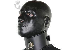LATEX HOOD BLACK THICK HEAVY RUBBER MASCULINE GIMP FETISH ANATOMICAL MALE MASK