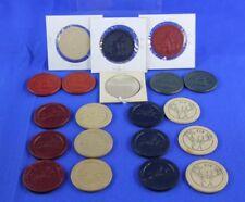 Lot Of 20 Antique Poker Chips Including Lady On Bike Elk Jockeys Cat Dog Monkey
