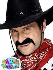 Fancy Dress Henbrandt Tashe Stick On Party 6 Moustache Mexican Black Handlebar