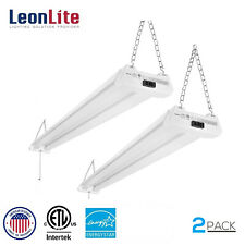 4ft 40W Linkable LED Utility Shop Light, 4100 Lumens, 5000K Daylight, Pack of 2