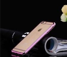 Diamante Bling Glitter a prueba de choques parachoques suave Gel funda para teléfono móvil