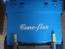 "2X Large CONOFLEX tackle box sticker 250 x 65mm (10""x 2.5"") SUPERB SILVER FOIL"