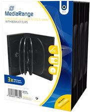 60 Mediarange DVD Hüllen 10er Box 33 mm für je 10 BD / CD / DVD schwarz