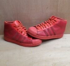 Adidas Originals Pro Model Shell Toe Trainers Mid Hi Red Snakeskin Texture UK 7