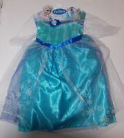 Disney Princess Frozen Elsa Halloween Costume Dress Up Girls Size 4 5 6 6X