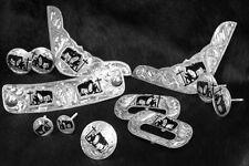 12 Piece Praying Cowboy Engraved Silver Saddle Set Horn Corner Plates Conchos