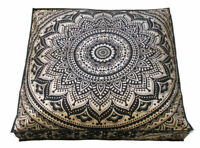 """35"""" Large Square Floor Pillow Case Throw Indian Mandala 100%Cotton Cushion Cover"""