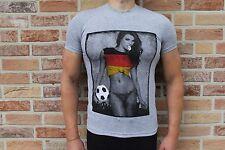 Herrenshirt Fußball Deutschland sexy Print grau *NEU* Gr. XL