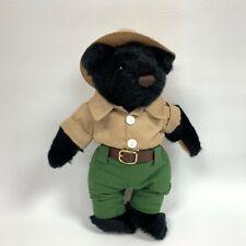 """Herrington Black Teddy Bear White Mountains Plush Toy  Stuffed Animal 11.5"""""""