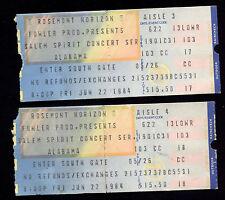 1984 Chicago Rosemont Horizon Alabama Salem Spirit Concert Series Ticket Stubs