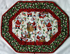 Handcrafted Quilted Table Runner Topper- CHRISTMAS SANTA TOYS FIREPLACE CHIMNEY