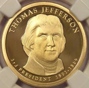 2007-S Proof Thomas Jefferson Dollar - NGC PF70 Cameo!