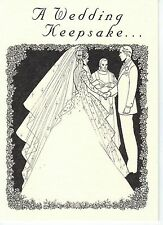 Wedding Card with King George VI .500 Silver Australia Sixpence for Bride's Shoe