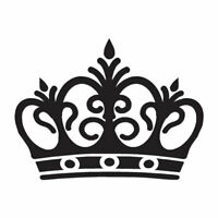 Royalty Crown Monarch King - Decal Sticker - Multiple Colors & Sizes - ebn3072