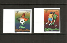 Algeria 1986 - Mexico World Cup Soccer, Scott#812/3 - Imperforate Set ,Margins**
