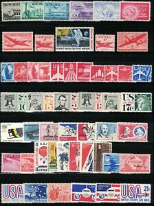 U.S. *MNH* 50 DIFFERENT VINTAGE U S AIRMAIL STAMPS FROM 1941 THROUGH 1976 *MNH*