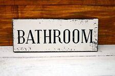 Plaque Sign Bathroom Toilet Loo Shabby Chic Vintage Door Hanging