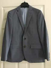 J.Crew Men's Ludlow Suit Jacket in Microstripe Italian Cotton 36 S Short $358