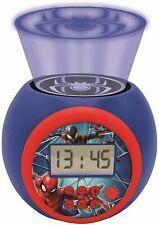 Lexibook Spider-Man Night Light Projector Alarm Clock For Kid's│Snooze Function