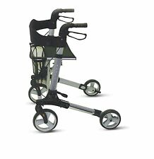 Walker 4 Wheel Aluminium Lightweight Mobility Rollator Seat Carry Bag In/Outdoor