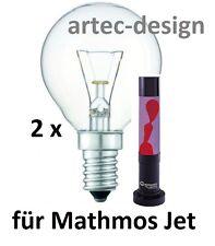 2 x Glühbirne Glühlampe Leuchtmittel für Lavalampe MATHMOS JET 40W NEU + OVP