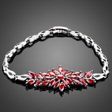 18K Gold GP Made With Swarovski Crystal Elements Flower Vines Bangle Bracelet