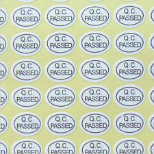 QC PASSED Stickers White Color Oval Security Label Warranty Label Sticker 900pcs