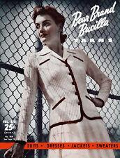 Bear Brand & Bucilla #323 c.1942 Fashion Knitting Patterns for Women