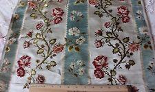 French Antique 19thC Silk, Chenille & Cut Velvet Home Fabric Sample~18thC Loom