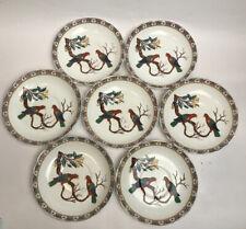 More details for antique adderleys ltd best bone china parrots birds design hand painted saucers