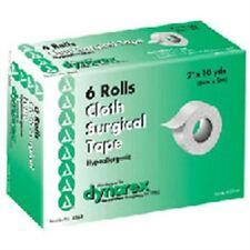 """Dynarex Cloth Surgical Tape 2""""X10 YD, 6 Rolls"""