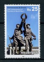 Mauritius 2018 MNH WWI WW1 End of World War I 100th Ann 1v Set Military Stamps
