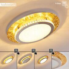 edle Decken Lampen LED dimmbar Flur Dielen Wohn Schlaf Raum Leuchten goldfarben