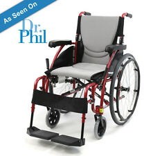 "Portable Ergonomic Super Light Wheelchair Quick Release Folding S-115Q 16"" NEW"