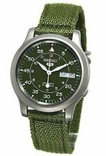 Seiko 5 Mens SNK805K2  Automatic Stainless Steel Watch with Green Canvas Gift